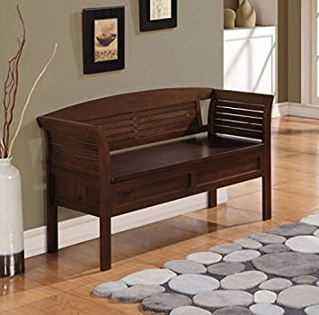Brown Furniture Storage Bench For Entryway Bedroom Living Room Bed Shoe  With Seat Benches Shoes Sitting Part 56