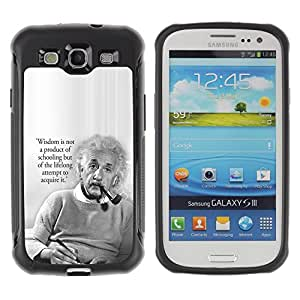 BullDog Case@ Einstein Albert Science Quote Smart Man Rugged Hybrid Armor Slim Protection Case Cover Shell For S3 Case ,I9300 Case Cover ,I9308 case ,Leather for S3 ,S3 Leather Cover Case