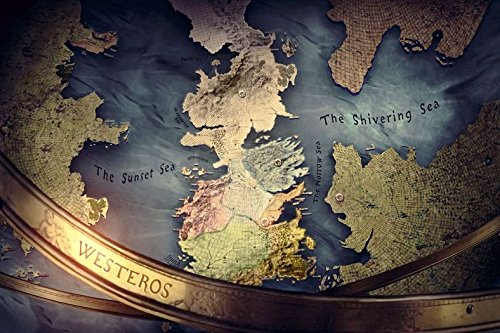 Lawrence Painting Game Of Thrones Seven Kingdoms Map Canvas Wall Posters Hd Modern Home Bedroom Decor Movie Landscape Poster Customized 05