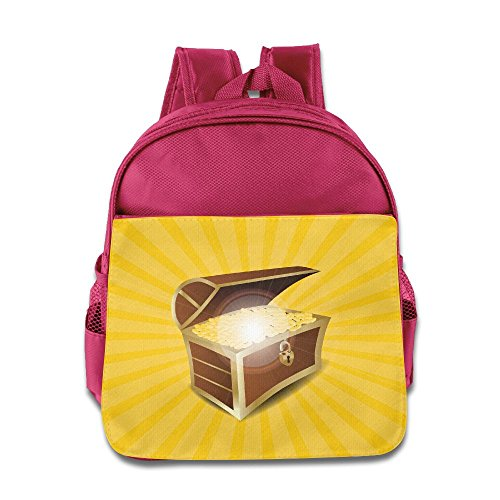 Gold Bug Harness (HYF Kids Gold Jewelry Background Toddler Backpack Preschool Lunch Boxes Carry Bag)