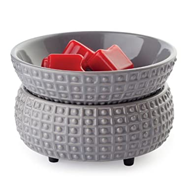 Candle Warmers Etc. Ceramic 2-in-1 Classic Fragrance Warmer, Slate
