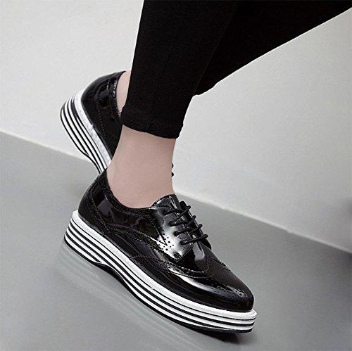 Mme Spring chaussures d'ascenseur chaussures de sport avec des chaussures muffin épais simples chaussures en cuir Mme , US7.5 / EU38 / UK5.5 / CN38