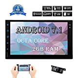 32GB+ 2GB Android 7.1 Car Stereo Octa Core Radio with Bluetooth GPS Navigation Support WiFi Mirror Link AUX USB SD 7 Inch Touch Screen Double Din with Free Backup Camera