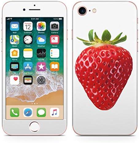igsticker iPhone SE 2020 iPhone8 iPhone7 専用 スキンシール 全面スキンシール フル 背面 側面 正面 液晶 ステッカー 保護シール 000919 写真・風景 イチゴ フルーツ