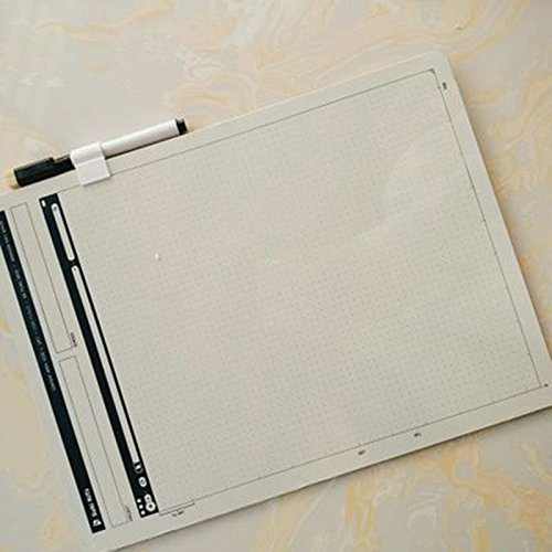 ZZ Lighting Creative Portable Whiteboard Double-Sided Whiteboard Dry Erase Board Office Drawing Painting Board Small Graffiti Board with Marker by ZZ Lighting (Image #5)