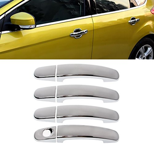 Bottone Chrome Car Door Handle Covers ABS Fit For Ford MK2 2005-2011 MK3 2012-2015 MK4
