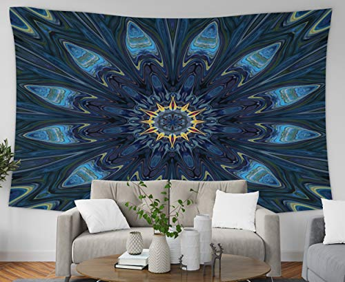(Art Tapestry,Pamime Home Decor Tapestry Fractal Surreal Art Psychedelic FANTASY Artwork graphic Painting Wall Hanging Tapestries Dorm Room Bedroom Living Room 60x50 Inches(150x130cm)Bedspread InHouse)