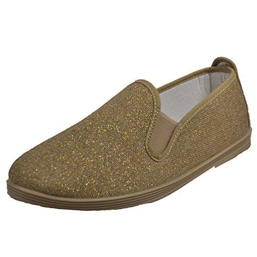 Flossy Women's Osuna Fz Flat Gold Sparkle EblWk0UA1