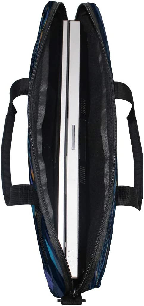 Perspective Geometric Pattern Laptop Shoulder Messenger Bag Case Sleeve for 14 Inch to 15.6 Inch with Adjustable Notebook Shoulder Strap