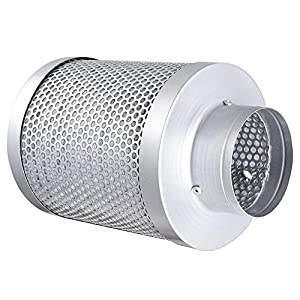 "New 4"" 150CFM Hydroponic Air Carbon Filter Odor Control Scrubber for Inline Exhaust"