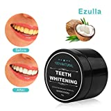 Teeth Whitening Powder,Activated Nature Charcoal Bamboo Whitener of Organic Coconut Safe Effective Remove Stains, Whiten Teeth, Enhance Gum Health, Refresh Breath by Ezulla (2.1oz)