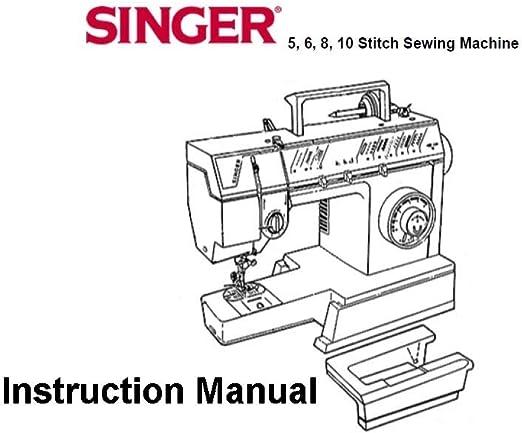 Máquina de coser Pdf-File Singer 5/6/8/10: Amazon.es: Hogar
