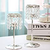 Iron crystal candlestick Romantic candlelight dinner Restaurant decoration Mother's day Birthdays Move-A