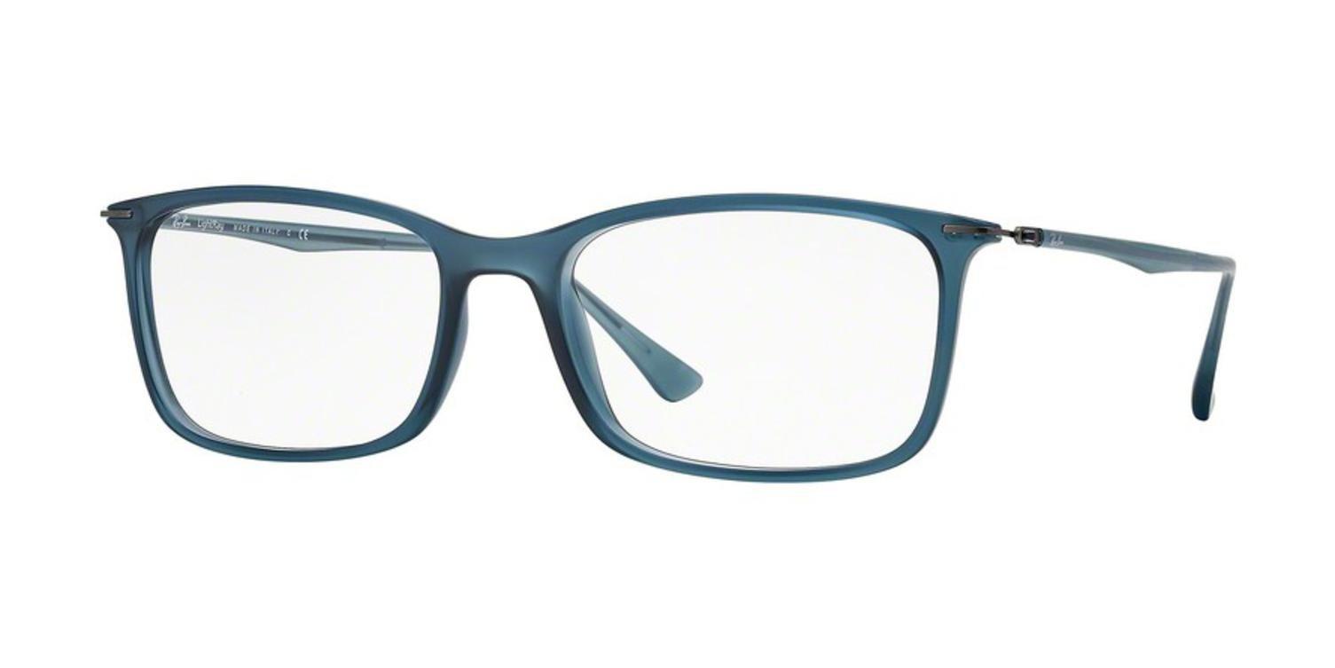 Ray-Ban Men's RX7031 Eyeglasses Demigloss Dark Blue 55mm