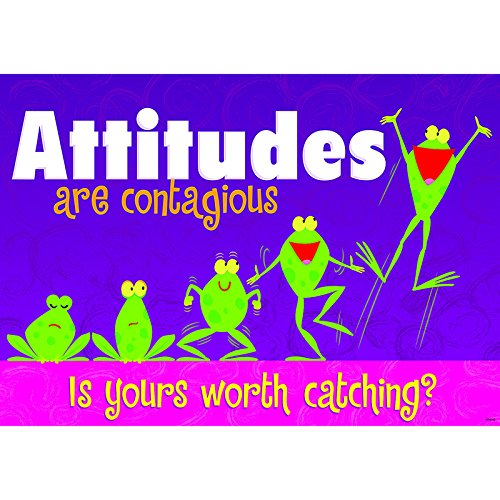 TREND ENTERPRISES INC. ATTITUDES ARE CONTAGIOUS POSTER (Set of 12) ()