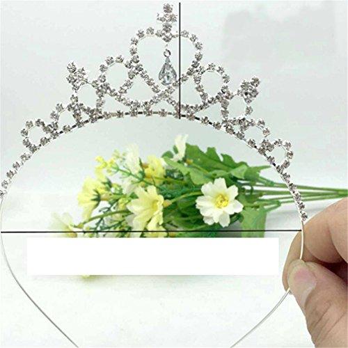 - SOURBAN Vogue Princess Crown Crystal Diamond Tiara Hoop Headband Bridal Hair Band Accessories