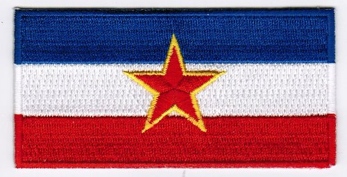 Yugoslavia Pre-War Flag Embroidered Patch Iron-On Baltic National Emblem