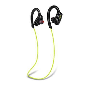 BANNAB Funcionamiento Impermeable Auriculares Bluetooth,Auriculares inalámbricos con micrófono,Tiempo de Juego 12Hours,
