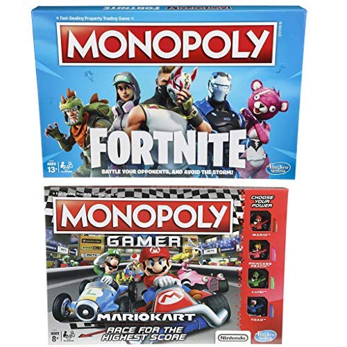 Monopoly Gamer Mario Kart And Monopoly Fortnite Edition Board Game Bundle