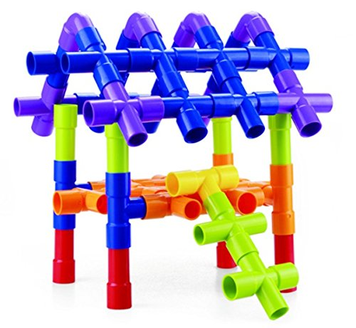 Outdoor Construction Toys : Tube racer pipes wheels colorful building toys fun