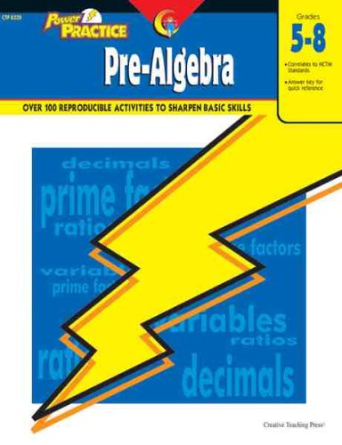Power Practice: Pre-Algebra, Gr. 5-8 (Power Practice Grades 5 - 8)