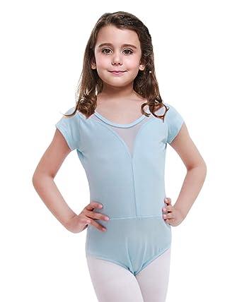d63807b2f1620 Imixcity Fille Ballet Justaucorp Slim Latine Salsa Tango Rumba Danse  Classique Gym Extensible Performance 6-