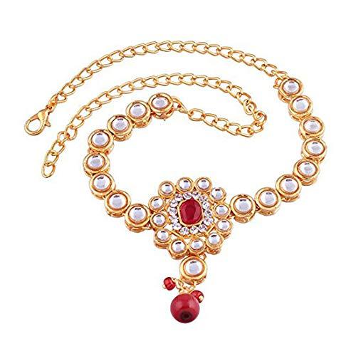 Aheli Elegant Indian Ethnic Kundan Bajuband Armlet Upper Arm Bracelet Bollywood Wedding Wear Jewelry for Women (India Bracelet Arm)