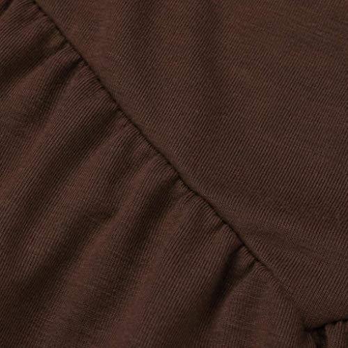 Manche Tunique sans Manches Chemisier Shirt Tops Haut lgant Bouffant Tee pissure Shoulder Dentelle Creux Top Blouse Et Off Femme Spaghetti Mode Caf Bretelles Uni nqITTS