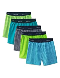Fruit of the Loom Boys 5 Pack Knit Boxer Boxer Shorts