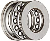 SKF 51103 Single Direction Thrust Bearing, 3 Piece, Grooved Race, 90° Contact Angle, ABEC 1 Precision, Open, Steel Cage, 17mm Bore, 30mm OD, 9mm Width, 3440lbf Static Load Capacity, 2190lbf Dynamic Load Capacity