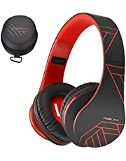 PowerLocus Bluetooth Over-Ear Headphones, Wireless Stereo Foldable Headphones Wireless and Wired Headsets with Built-in Mic, Micro SD/TF, FM for iPhone/Samsung/iPad/PC
