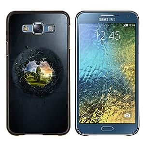 TECHCASE---Cubierta de la caja de protección para la piel dura ** Samsung Galaxy E7 E700 ** --Ver Para El Otro Lado