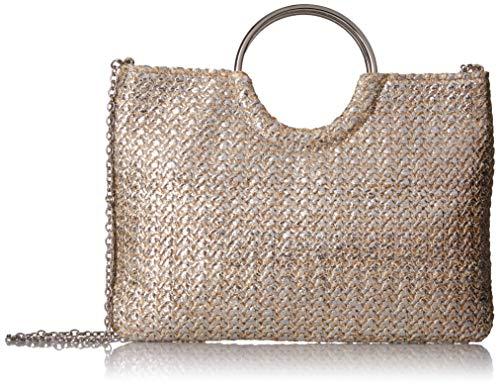 Jessica McClintock Sonia Metallic Ring Handle Bag, Gold Metallic