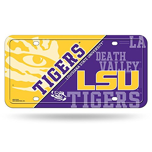NCAA Lsu Tigers Metal Auto Tag (Lsu Metal)