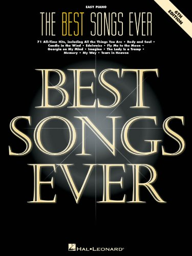 The Best Songs Ever - 6th Edition - Easy Piano Songbook