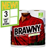 Brawny White Tear-a-Square Paper Towel, 2 Count