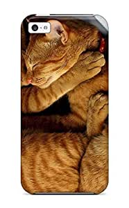 Awesome YoiPJFZ10476yqmGy ZippyDoritEduard Defender Tpu Hard Case Cover For Iphone 5c- Cats Cuddling