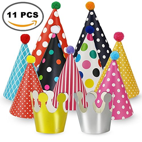 Chapter Seven 11PCS Cake Birthday Party Cone Hats for Party ()