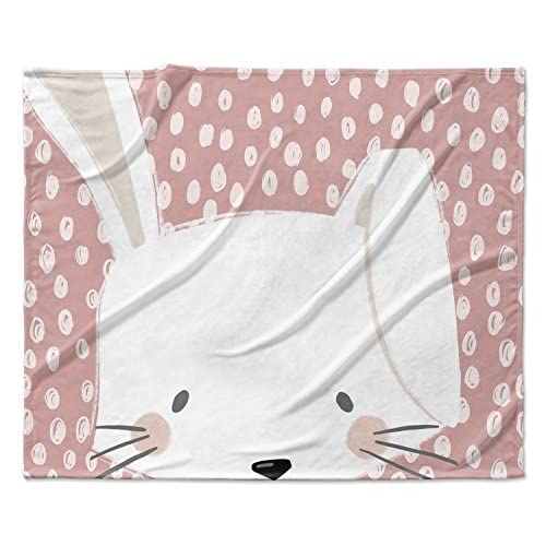 Wholesale KAVKA DESIGNS Bunny Fleece Blanket, (Pink/White), Size: 40x30x1 - (JLJAVC032VPS) supplier