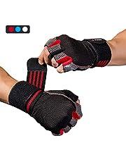 WACCET Fitness Handschuhe, Gewichtheben Handschuhe mit Handgelenkstütze, Trainingshandschuhe Damen Herren für Kraftsport, Bodybuilding, Fitnesstraining, Crossfit Training und Radsportan
