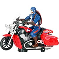 Shop & Shoppee Super Hero Action Bike Toy with 3D Lights & Music (Multicolor)