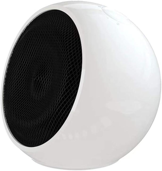 AZBYC Silencio Protable Mini Calentador De Ceramica con Mango, Fan Heater - Protección De Sobrecalentamiento, 3 Calor Calefacciones, (Blanco, Rosa)