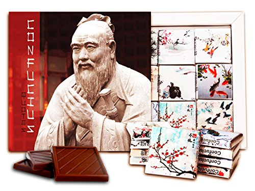 DA CHOCOLATE Candy Souvenir Confucius Chocolate Set 5x5 1 box - Demi Sculpture