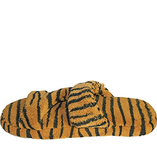 Dawgs Womens Fluffy Z Pantofole Tigre Piatta