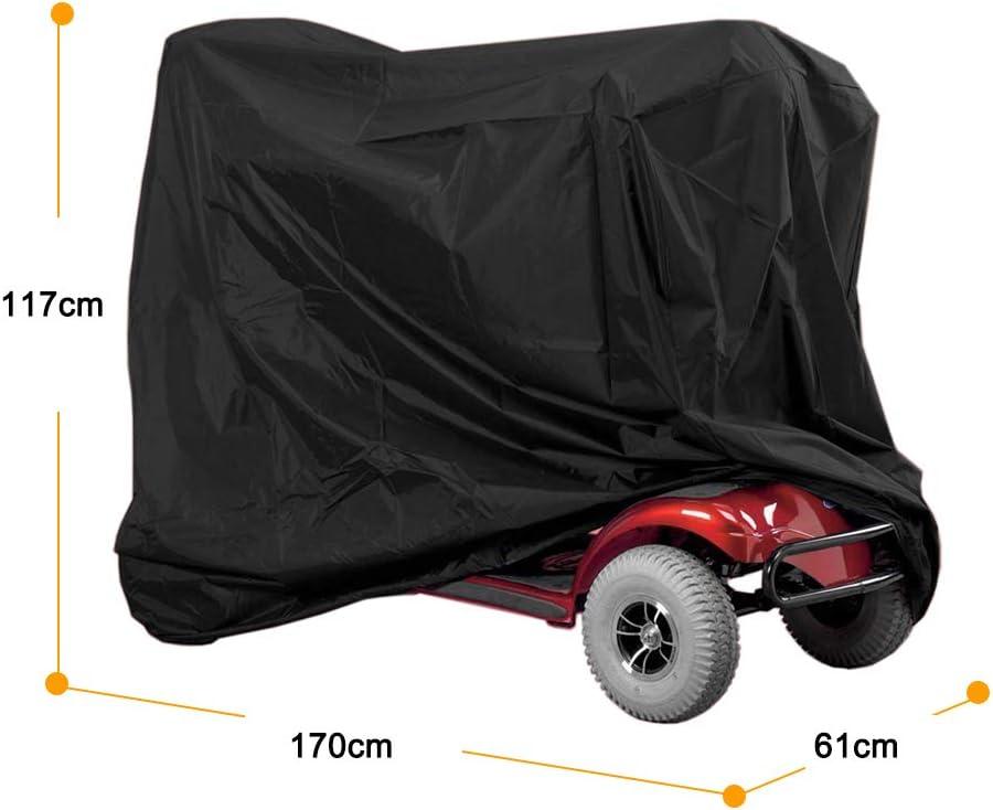 Regenschutz Für Rollstuhl Motorradabdeckung Fahrradabdeckung Schutzbezug Wasserdichte Oxford Abdeckung Anti Dust Sun Regen Wind Proof Uv Schutz 170 61 117cm Auto