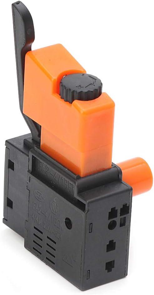 Interruptor de Velocidad Ajustable AC 250 V//4 A FA2-4//1BEK para Taladro el/éctrico por ESden