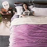 BEDSURE Sherpa Fleece Blanket King Size Lalic Plush