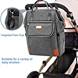Lekebaby Backpack Diaper Bag Large Capacity Baby