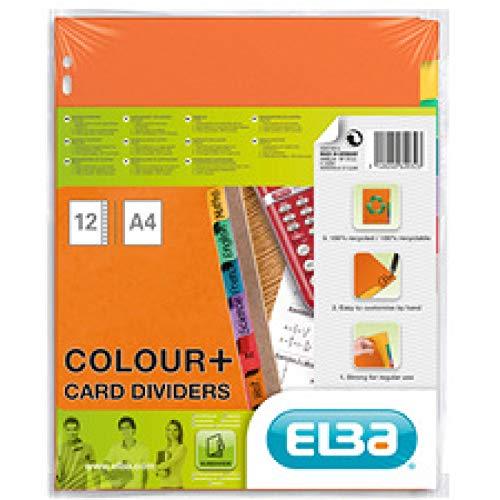 Elba 400079615 Ersatz-Deckbl/ätter f/ür Ordner DIN A4 160 g//qm grau