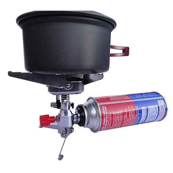YOMRIC Estufa de Gas propano para Estufa al Aire Libre, Quemador único y Manguera Trenzada de Acero, elaboración de Cerveza casera, Quemador de Gas butano: ...